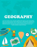 Geography study. Education and science layout concepts. Flat modern style. Geography study and science. Education and science layout concepts. Flat modern style Stock Photo