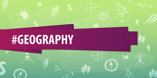 Geography subject. Back to School background. Education banner. Stock Photography