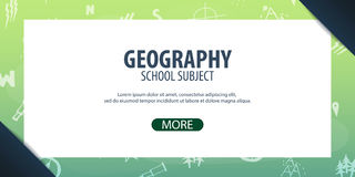 Geography subject. Back to School background. Education banner. Royalty Free Stock Photography