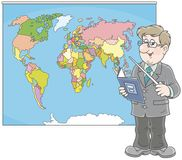 Geography teacher at lesson Stock Photography