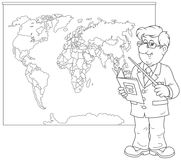 Geography teacher at lesson Royalty Free Stock Images
