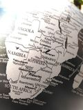 Geography of the world map in black and white. royalty free stock image