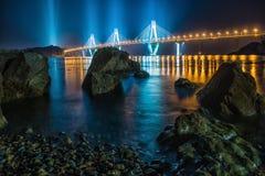 Geoje-Brücke lizenzfreies stockbild