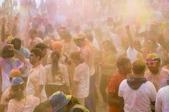 Geoje, COREA DEL SUR - marzo de 2018: Festival de Holi imagen de archivo libre de regalías