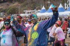 Geoje, SOUTH KOREA - MARCH 2018: Holi festival. Multicultural Holi fesival celebration in Korea Royalty Free Stock Image
