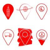 Geolocation象组装 套Geolocation签到您的网站设计的另外样式,商标, app, UI 皇族释放例证