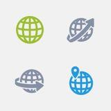 Geolocation - ícones do granito ilustração stock