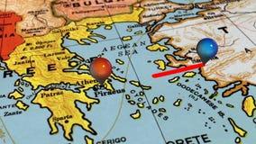 Geolocation на карте Европы бесплатная иллюстрация