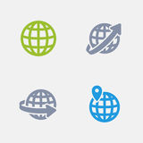 Geolocation - Granite Icons Stock Images