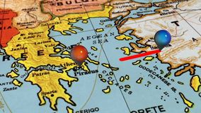 Geolocation sur la carte de l'Europe illustration libre de droits