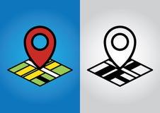 Geolocation symbol Royaltyfri Bild