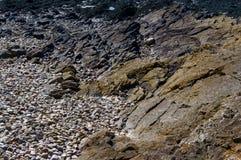 Geología de Clevedon Imagenes de archivo