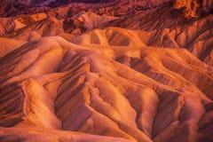 Geología de Death Valley Foto de archivo libre de regalías