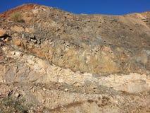 Geología en pared del hoyo Fotos de archivo libres de regalías