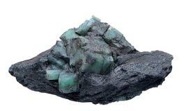 Geologia: berilo na mica foto de stock royalty free