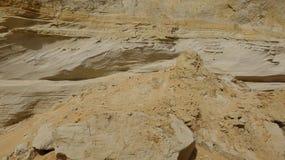 Geologia da areia e da rocha fotografia de stock