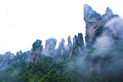 Geologia e paesaggio di Zhangjiajie Fotografia Stock