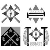 Geologia emblemat Obraz Royalty Free