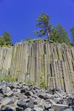 Geologia especial no monumento nacional de Postpile dos diabos imagens de stock royalty free
