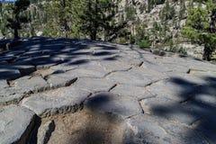Geologia especial no monumento nacional de Postpile dos diabos fotos de stock royalty free
