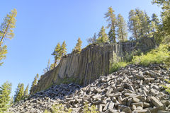Geologia especial no monumento nacional de Postpile dos diabos fotografia de stock
