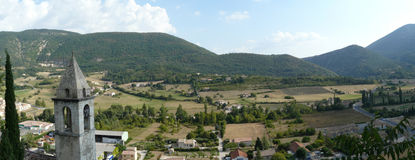 Geologic feature. Montbrun-les-bains, in the south of France Stock Photo