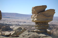 Geologic formation, Ischigualasto Stock Photography
