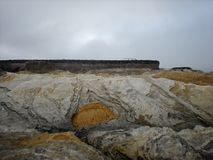 Geologic Formation. At Montana de Oro State Park, Los Osos, California Stock Image