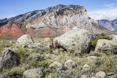 Geologic formations desert mountain boulders Royalty Free Stock Image