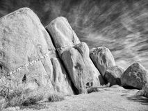 Geologic strata, Joshua Tree National Park Royalty Free Stock Image