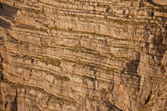 Geologic stratifications in Dolomites Royalty Free Stock Photo