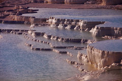 Geologic Terraces at Pamukkale Stock Images
