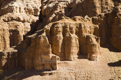 Geological castle formed by erosion Stock Images