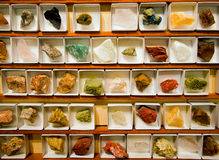 Geological collection of minerals Royalty Free Stock Photos