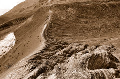 Geological Crater Landscape. Geological Ubehebe Crater Rock Formation in Death Valley Desert, California Royalty Free Stock Photography