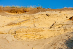 Geological cut of sands Stock Images