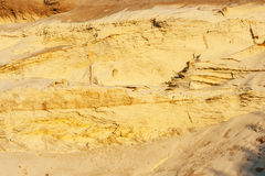 Geological cut of sands Royalty Free Stock Photo