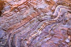 Geological Feature. Beautiful close view on a colorful rocks in Australia Royalty Free Stock Images