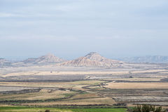 Geological features in Bardenas Royalty Free Stock Images