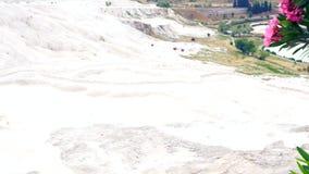 Geological formacja bieląca biel skała zbiory wideo