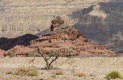 Geological formacja wymieniająca jak śruba, pustynia Negew, Izrael Obraz Royalty Free