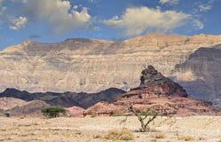 Geological formacja wymieniająca jak śruba, pustynia Negew, Izrael Fotografia Royalty Free