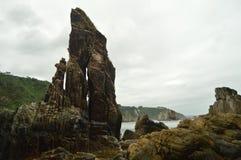 Geological formacje Na skałach plaża cisza fotografia royalty free