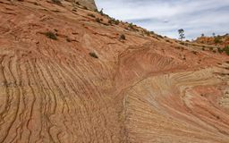 Geological formacje Zion park narodowy, Utah zdjęcie stock