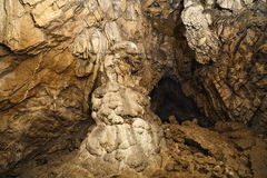 Geological formation. In cave in romania Stock Image