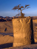 Geological formation in desert of Negev, Israel Royalty Free Stock Image