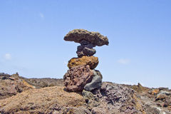 Geological formation in Lanzarote, Spain Stock Photo