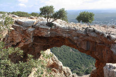 Geological formation. In the north of Israel Stock Photos