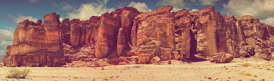 Geological formation -pillars of the king Solomon, Timna park, Israel Stock Photos