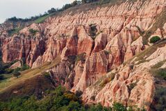 Free Geological Formation Rapa Rosie,sebes-romania Royalty Free Stock Images - 213379479